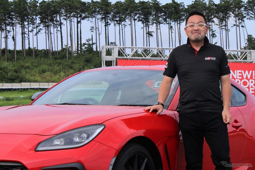トヨタ GAZOO Racing Company GRデザイングループ長の松本宏一さん《写真撮影  内田俊一》