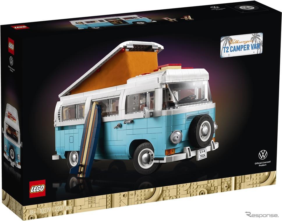レゴ「フォルクスワーゲン・タイプ2バス・キャンピングカー」《写真提供 レゴジャパン》