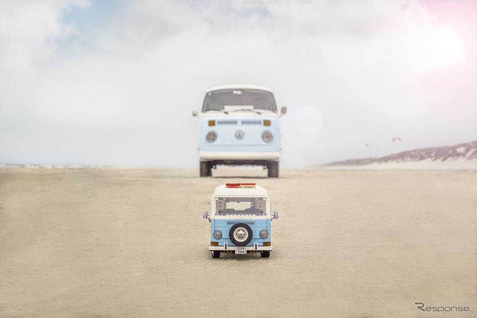 レゴと実車《写真提供 レゴジャパン》