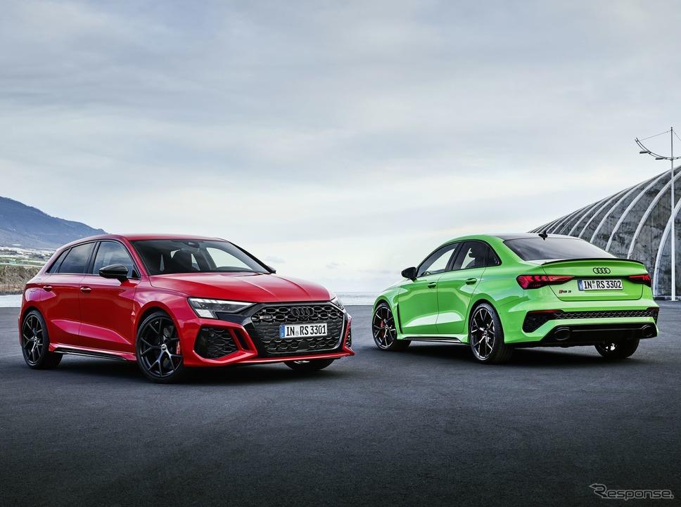 アウディ RS3 スポーツバック 新型と RS3 セダン 新型《photo by Audi》