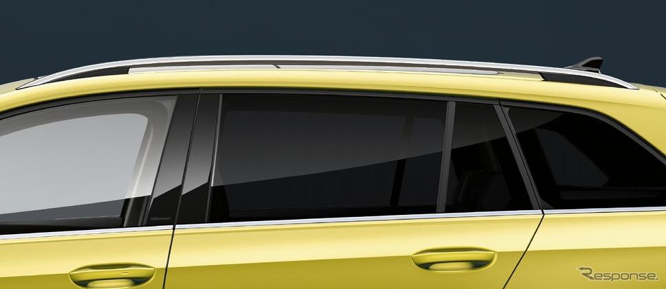 VW ゴルフ バリアント ダークティンテッドガラス シルバールーフレール《写真提供 フォルクスワーゲン グループ ジャパン》