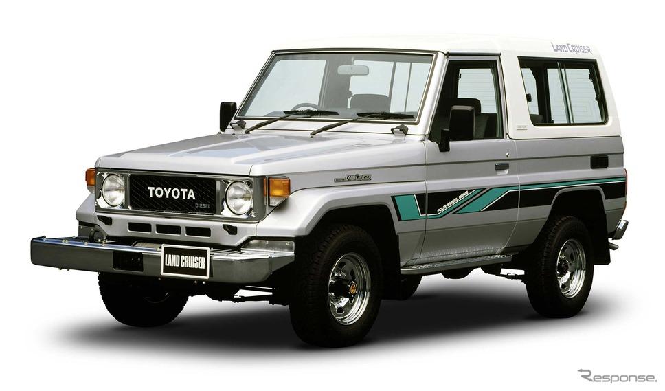 展示予定:ランドクルーザー70系(同型車)《写真提供 トヨタ自動車》