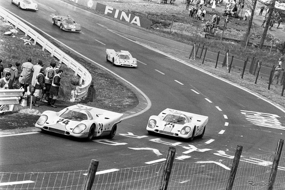1970年スパフランコルシャン1000kmのポルシェ917K(#25 ロドリゲス)《Photo by Bernard Cahier/Hulton Archive/ゲッティイメージズ》