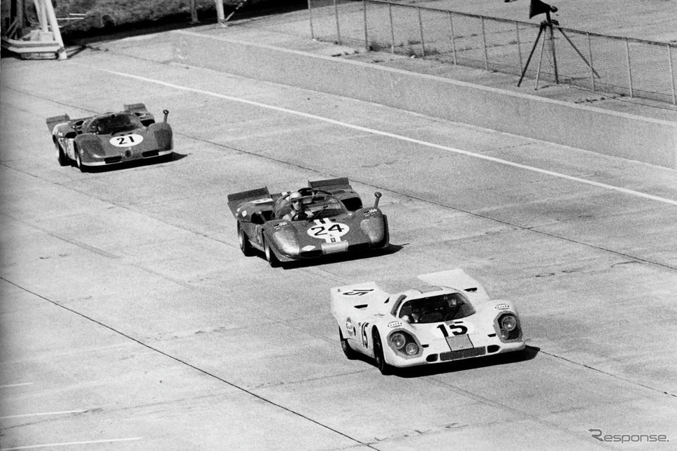 1970年セブリング12時間のポルシェ917K(#15 ロドリゲス)《Photo by Bernard Cahier/Hulton Archive/ゲッティイメージズ》