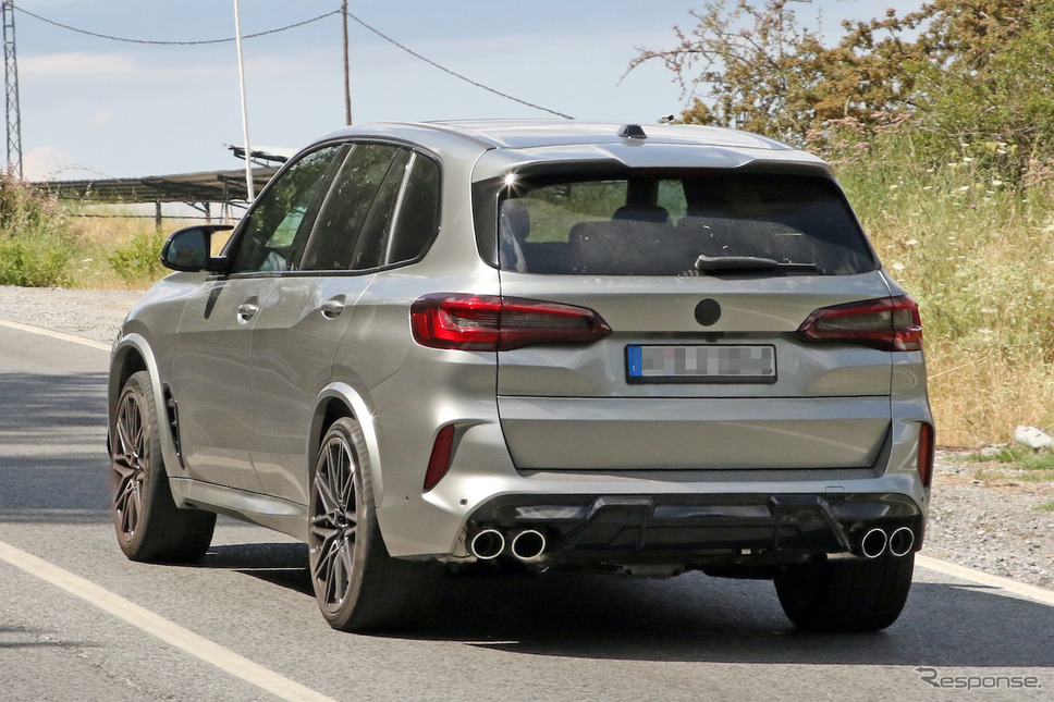 BMW X5M 改良新型プロトタイプ(スクープ写真)《APOLLO NEWS SERVICE》