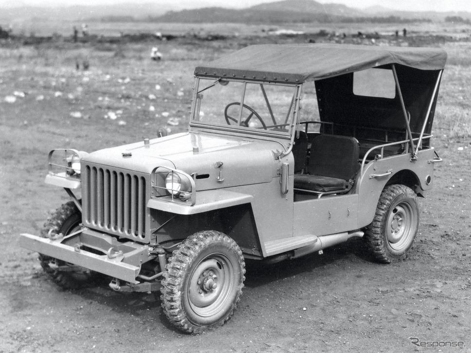 1951年:トヨタ・ジープBJ型警察予備隊向け《写真提供 トヨタ自動車》