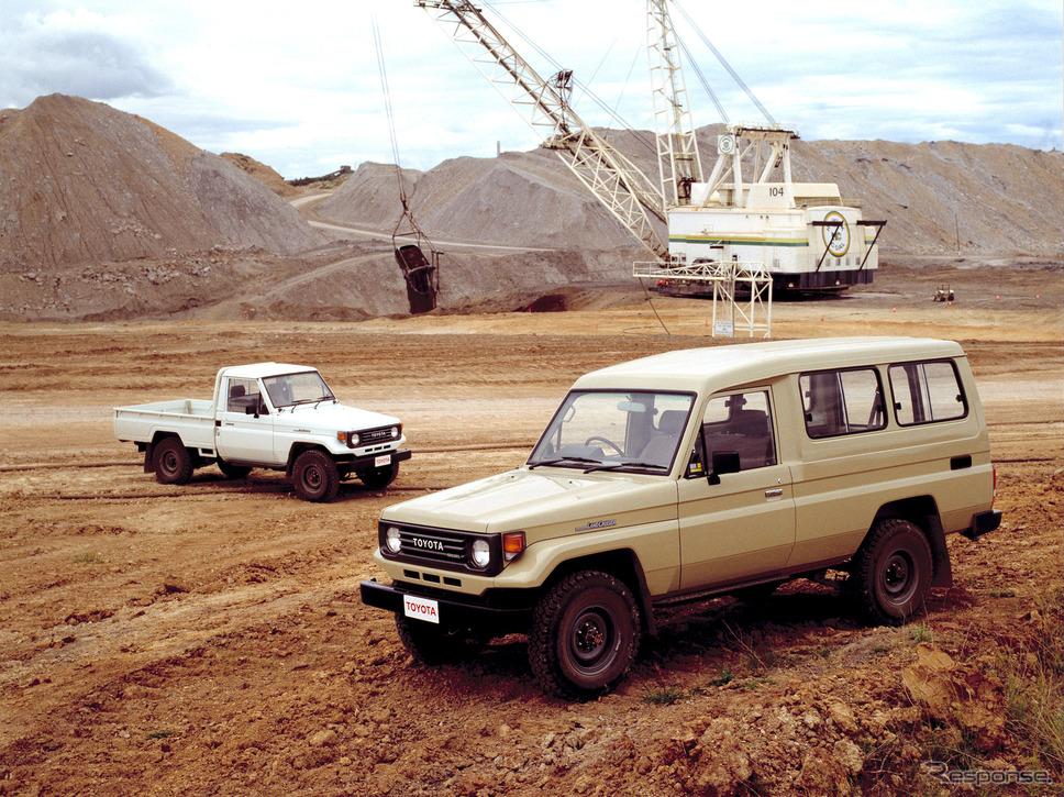 1990年:トヨタ・ランドクルーザー(オーストラリア)《photo by Toyota》