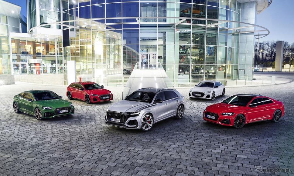 アウディの高性能モデル「RS」の主要ラインナップ《photo by Audi》