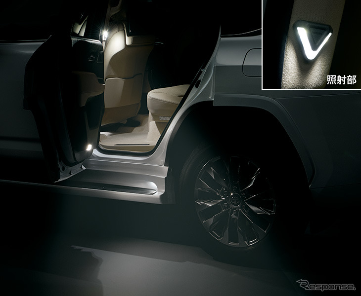 LEDスマートフットライト《写真提供 トヨタカスタマイジング&ディベロップメント》
