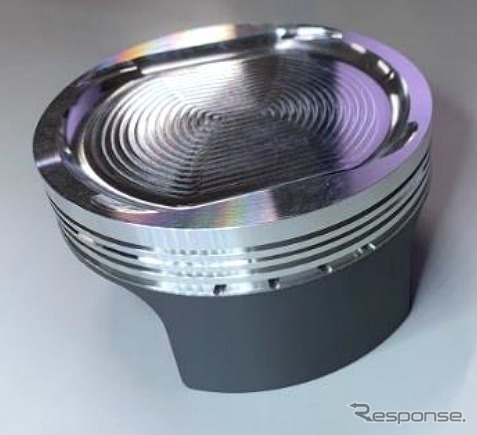 高温強度の高いA2618材を使用した削り出しピストン。Pro+専用2層コートを採用《写真提供 HKS》
