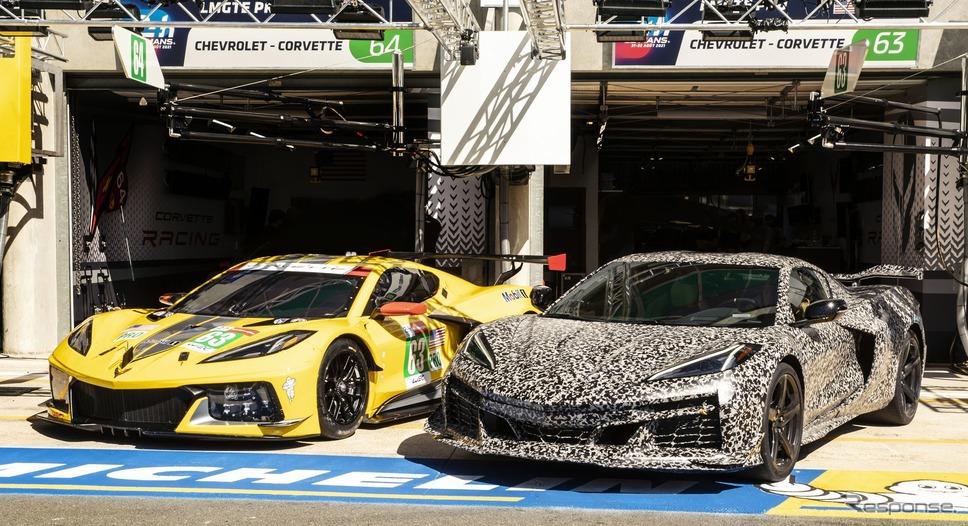 シボレー・コルベット Z06 新型のプロトタイプ(右)《photo by Chevrolet》