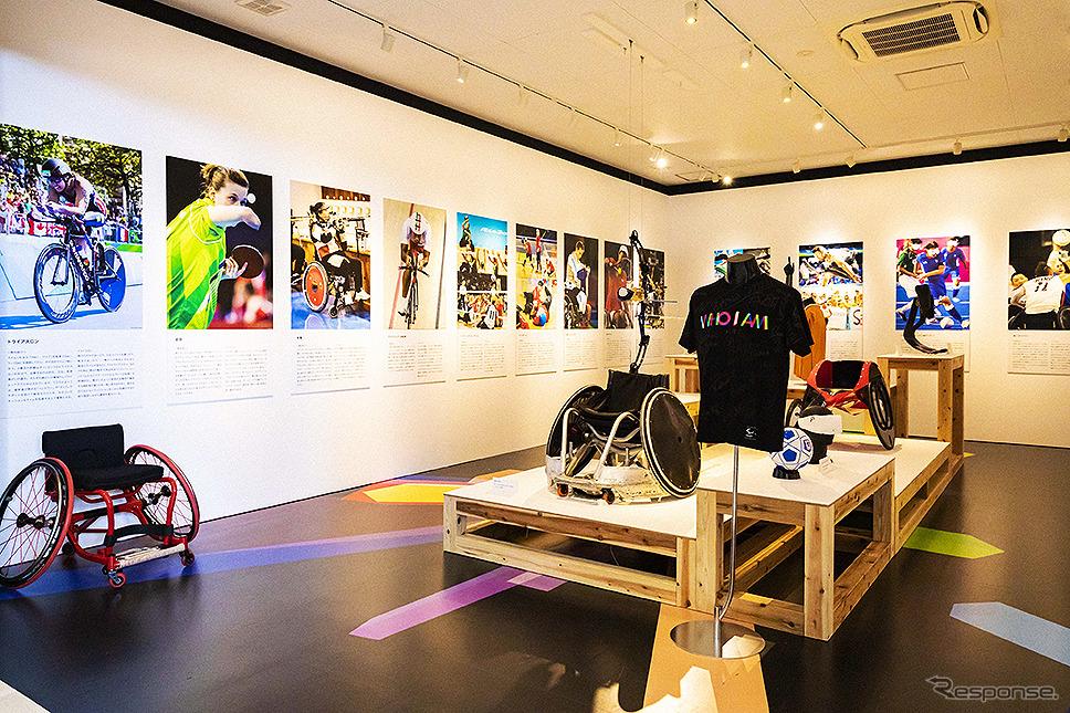 トップパラアスリートの超人的プレーを体感できる「やさしくないミュージアム」《写真提供 WOWOW 「パラリンピック・ドキュメンタリーシリーズ WHO I AM」》