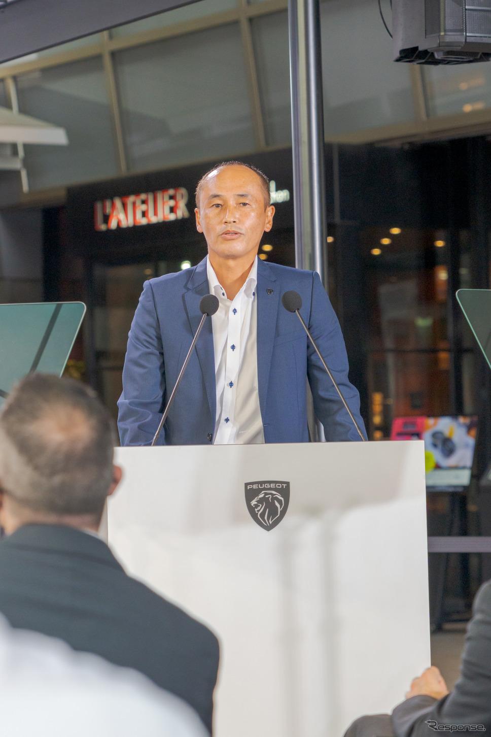 Groupe PSA Japan株式会社マーケティング部プジョープロダクトマネジャーの上村学氏。《写真撮影 関口敬文》