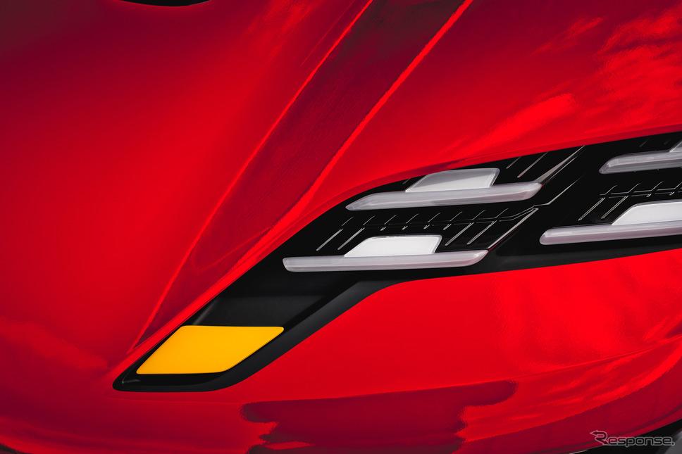 ポルシェのコンセプトカーのティザー写真《photo by Porsche》