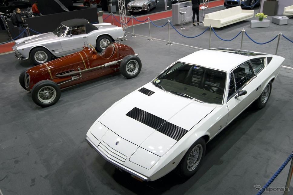 向かって左からマセラティ3500GTスパイダー、タイプ6CM、カムシン《photo by Maserati》