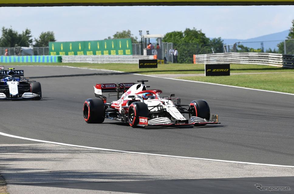 #7 ライコネン(アルファロメオ、2021年ハンガリーGP)《Photo by Pirelli》