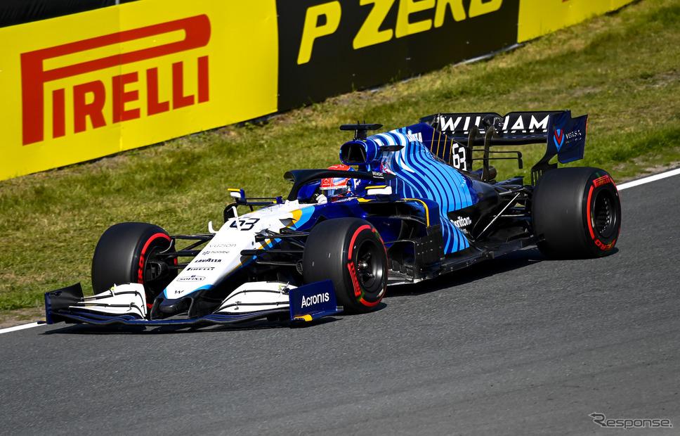 #63 ラッセル(ウィリアムズ、2021年オランダGP)《Photo by Pirelli》