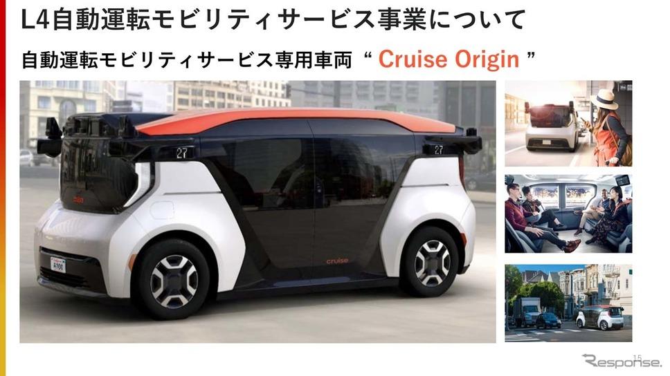 GMから提供される予定の自動運転モビリティサービス専用車両「クルーズ・オリジン」《画像提供 ホンダ》
