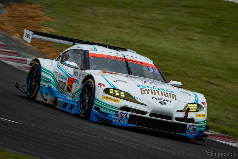 【SUPER GT 第5戦】GT300クラス予選3位の#60 SYNTIUM LMcorsa GR Supra GT(吉本大樹/河野駿佑)《撮影 益田和久》