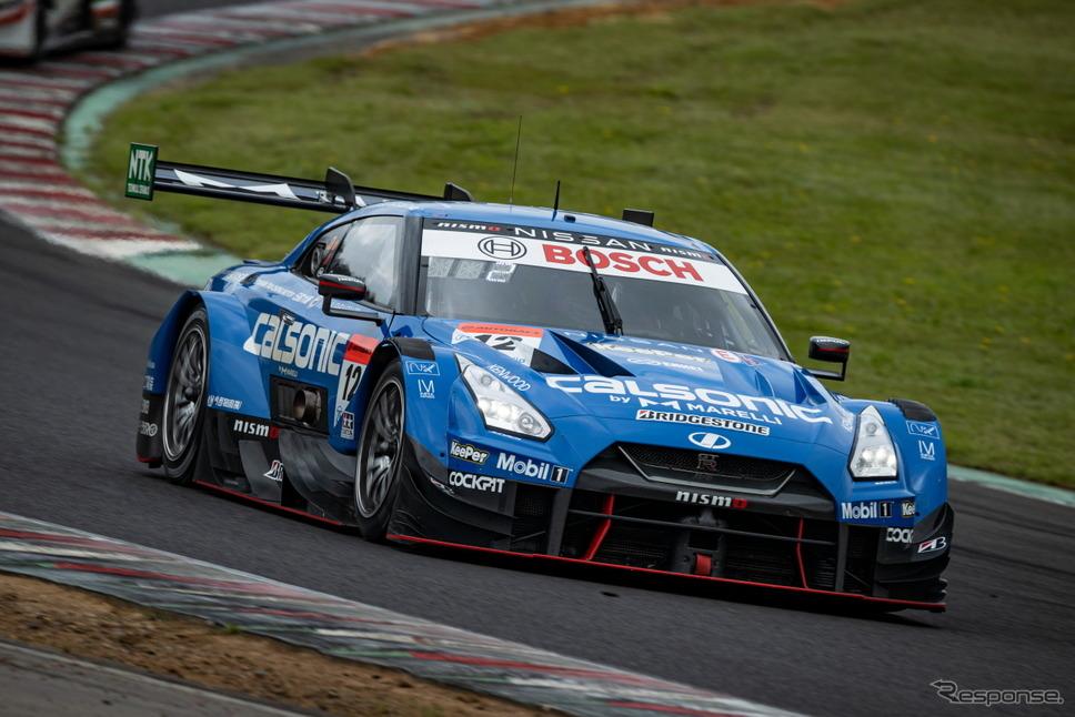 【SUPER GT 第5戦】GT500クラス予選3位の#12 カルソニック IMPUL GT-R(平峰一貴/松下信治)《撮影 益田和久》