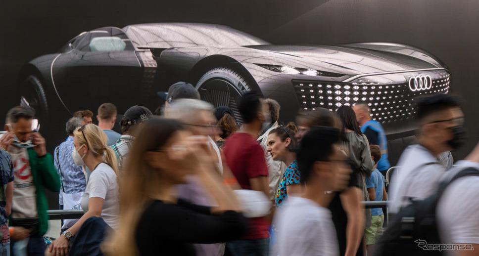 アウディ・グランドスフィア(IAAモビリティ2021オープンスペース)《Photo by Peter Kneffel/picture alliance via Getty Images/ゲッティイメージズ》