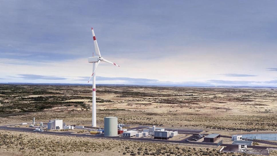 ポルシェがチリに建設する合成燃料の「eFuel」を生産するための工場の完成予想イメージ《photo by Porsche》