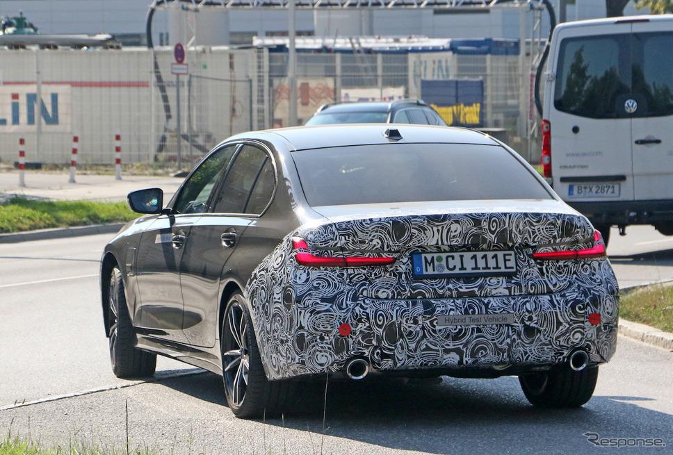 BMW 3シリーズ 改良新型プロトタイプ(スクープ写真)《APOLLO NEWS SERVICE》