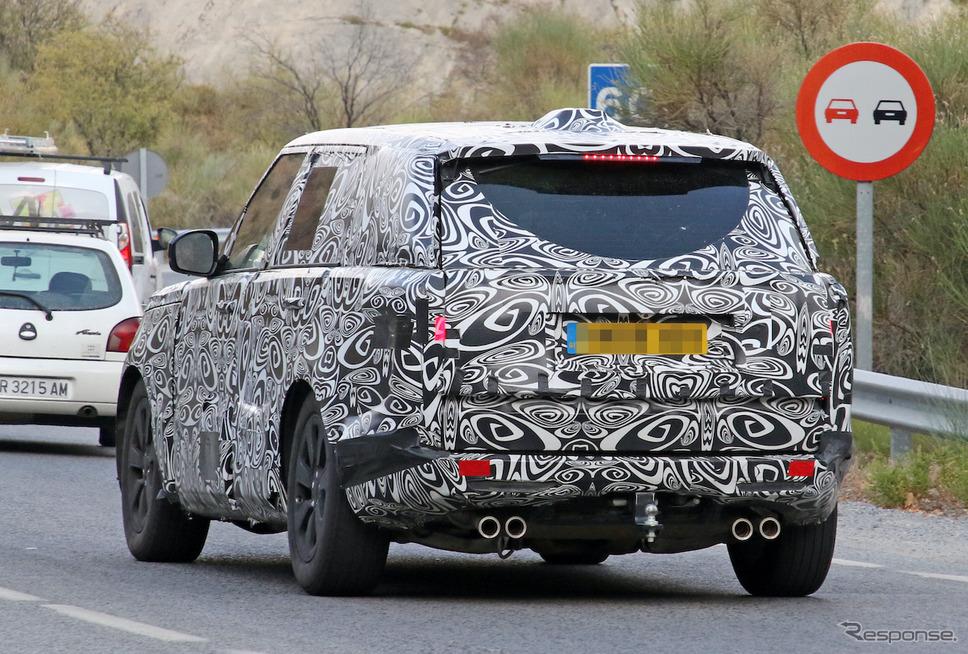 ランドローバー レンジローバーSVR 開発車両(スクープ写真)《APOLLO NEWS SERVICE》