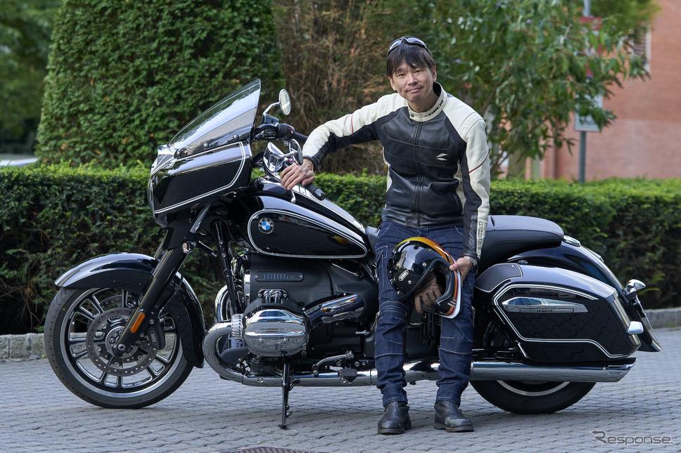 筆者・青木タカオとBMW R18B《画像 BMW Motorrad》
