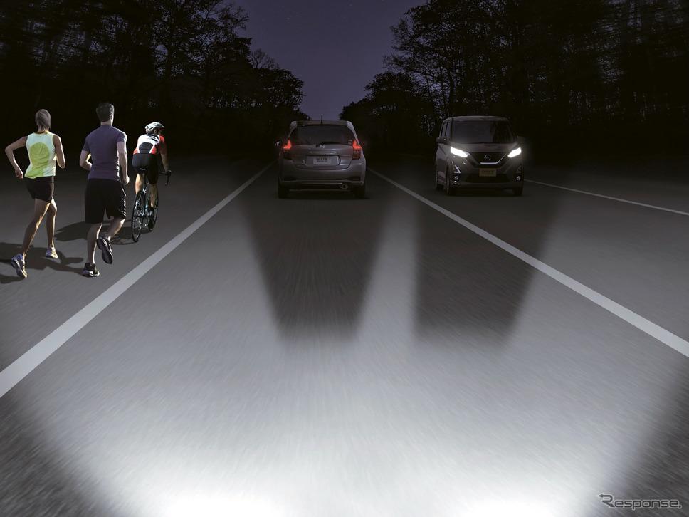 アダプティブLEDヘッドライトシステム《写真提供 日産自動車》