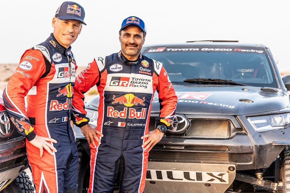 ナッサー・アル-アティヤ(右)とマシュー・ボーメル(左)《写真提供 TOYOTA GAZOO Racing》