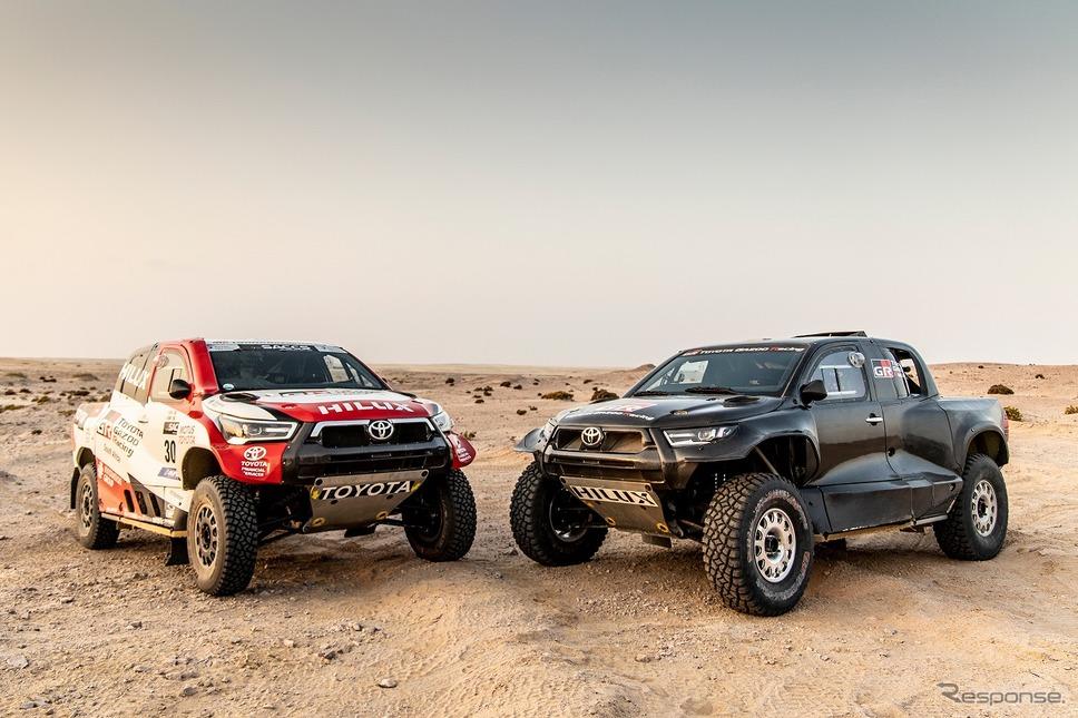 左:2021年参戦車両/右:2022年参戦予定車両(プロトタイプ)《写真提供 TOYOTA GAZOO Racing》