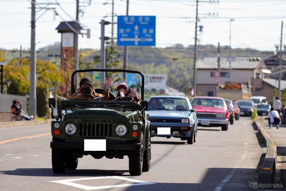 パレードの様子《写真提供 トヨタ博物館》