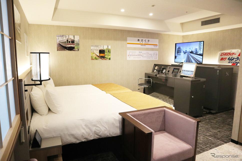 東武鉄道運転シミュレータールーム《写真提供 東武ホテルマネジメント、東武鉄道》