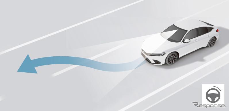 ホンダセンシング360 車線変更支援機能《画像提供 ホンダ》